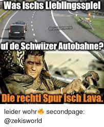 Uf Memes - was ischs lieblingsspiel aswissmeme uf de schwiizer autobahne die