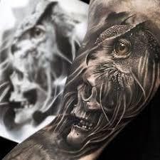 owl skull tattoos owl on skull owls with skull faces tattoo