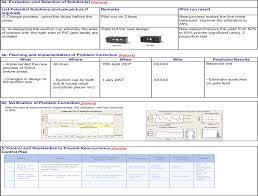 dmaic report template lean manufacturing sixsigma a3 lean six sigma bord