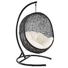 Rattan Hammock Chair Amazon Com Modway Encase Rattan Outdoor Patio Swing Chair