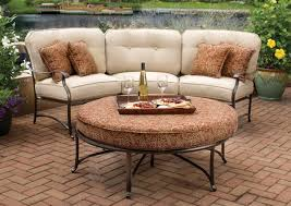 Agio Patio Chairs by Contempo Curved Sectional Sofa By Lloyd Flanders All Weather