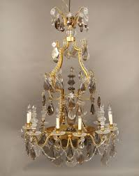 Antique Baccarat Chandelier A Special Late 19th Early 20th Century Gilt Bronze And