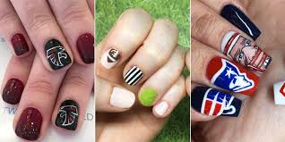 super bowl 2017 nail art ideas patriots and falcons nails good