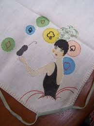 card game table cloth card game table cloth flapper style hand embroidered vintage