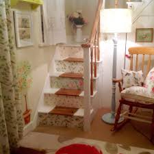 my stairs wallpapered in laura ashley prints abbeville summer