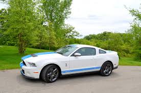 2012 ford mustang shelby gt500 fs 2012 ford mustang shelby gt500 white blue stripes immaculate