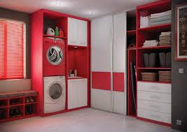 cuisine buanderie rangement et placards de cuisine armoire aménagement buanderie