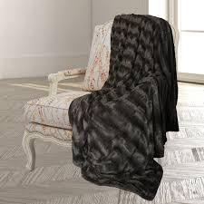 Faux Fur Throw Rugs Laurel Park Embossed Faux Fur Throw Blanket U0026 Bedspread