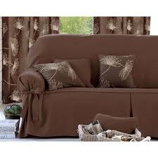 housse de canapé 3 place becquet housse canapé 3 places marron chocolat brandalley