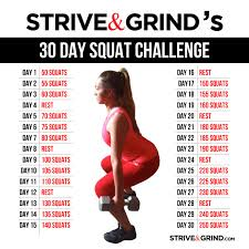 Challenge How Do U Do It Strive Grind Achieve Greatness30 Day Squat Challenge We Are