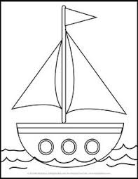 boat sailing ship coloring pages kids transportation