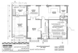 ground floor extension plans garage conversion and house extension design proposed ground