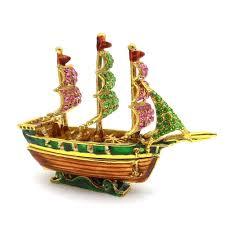feng shui bejeweled wishfulfilling wealth ship small lazada