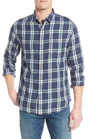 grayers u0027stafford u0027 trim fit plaid twill sport shirt in blue for