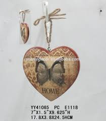 Handicrafts For Home Decoration Wooden Heart Shape Handicrafts Hanger For Wall Decoration 3d