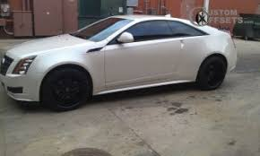 white cadillac cts black rims 35mm to 35mm wheel offset