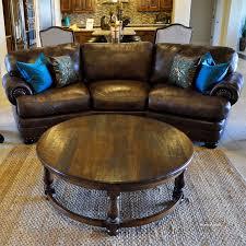 round wood coffee table rustic black distressed furniture weathered wood coffee table distressed
