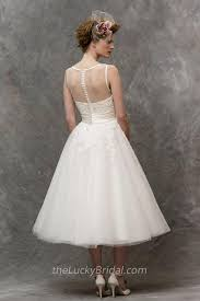 best tea length lace wedding dresses c39 all about wedding dresses