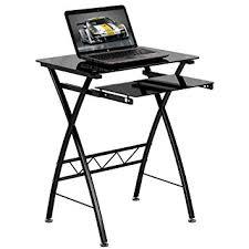 Glass Computer Desk Amazon Com Flash Furniture Black Tempered Glass Computer Desk