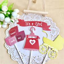 christening decorations 30 sets it s a girl cake topper baby shower baptism christening