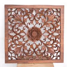 balinese wooden wall panel decor hand carved manufacturing and
