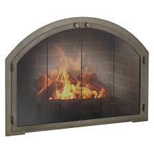 fireplace screen with glass doors copper fireplace doors woodlanddirect com