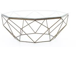 round table marlow rd four hands marlow geometric coffee table with glass top belfort