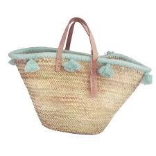 wool pom pom baskets wool bags accessories moroccan wool