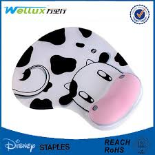 Comfortable Mouse Pad Milk Cow Comfortable Wrist Rest Mouse Pad Cute Memory Foam Mouse