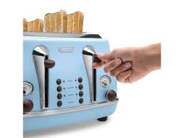 Toaster And Kettle Set Delonghi Icona Vintage Ctov 4003 Az Azure 4 Slice Toaster Delonghi Malaysia