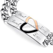 personalized bracelets for personalized 2 hearts matching bracelets for him and