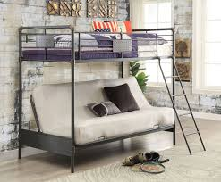 Black Metal Futon Bunk Bed Industrial Piping Metal Black Futon Bunk Bed