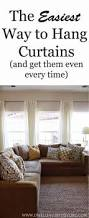 Easy Way To Hang Curtains Decorating One Curtain Mistake Most People Make Window Decorating And House