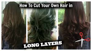 how i cut my hair in layers at home long layered hair cut