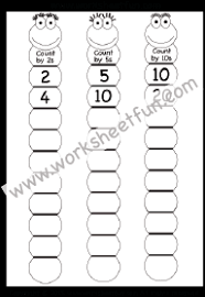 skip counting by 2s 5s and10s free printable worksheets