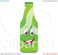 cartoon beer bottle cartoon of a happy green beer or soda bottle mascot royalty free