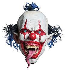 Red White Blue Halloween Costumes Morbid Enterprises Snake Tongue Evil Clown Mask Red White Blue