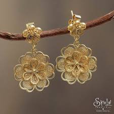 gold earrings design with weight shivlal jewellers on gold jhumka designs with weight and