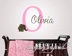 Monogram Wall Decals For Nursery Monogram Wall Decals Plus Name Wall Decal Custom Name Elephant