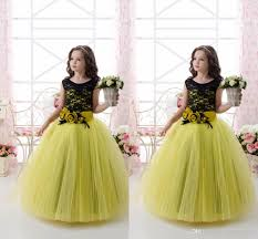 2016 kelly lace tulle ball gown flower dresses vintage child