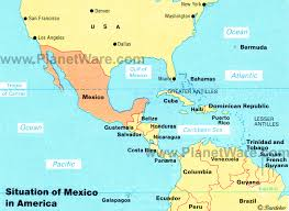mexico america map map of mexico and america major tourist attractions maps
