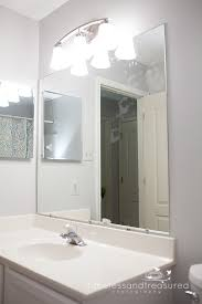 how to frame a bathroom mirror with clips fanciful how to frame a bathroom mirror with clips remarkable