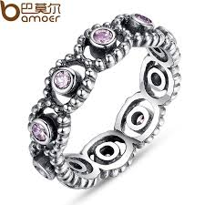 Pandora Wedding Rings by Silver Plated Wedding Rings With Crystal For Women Compatible With