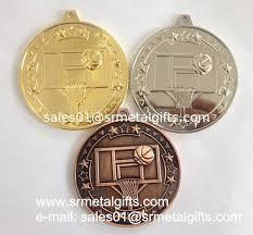 cheap ribbon cheap blank metal sports medal with ribbon lace gold basketball