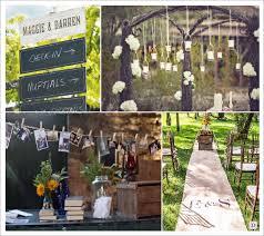 d co mariage vintage decoration salle vintage retro tapis toile de jute pancarte en