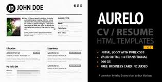 resume website template 20 free and premium resume cv html website templates and layouts