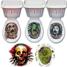 halloween horror decorations new halloween horror bathroom toilet seat lid cistern cover party