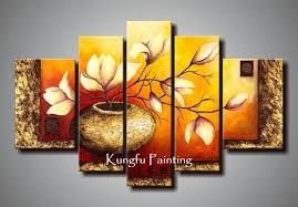 livingroom paintings 100 painted unframed abstract 5 panel canvas living room