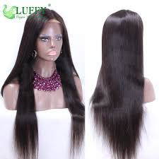 22 28 inch long silky straight middle part glueless full lace wigs