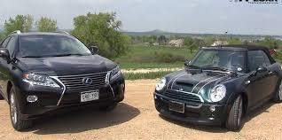 lexus cars 2008 weird comparison 2008 mini cooper s convertible vs 2013 lexus rx
